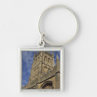 St. James Church Tower, Chipping Camden Silver-Colored Square Keychain