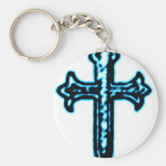 St James Cross in Blue Tint Keychain
