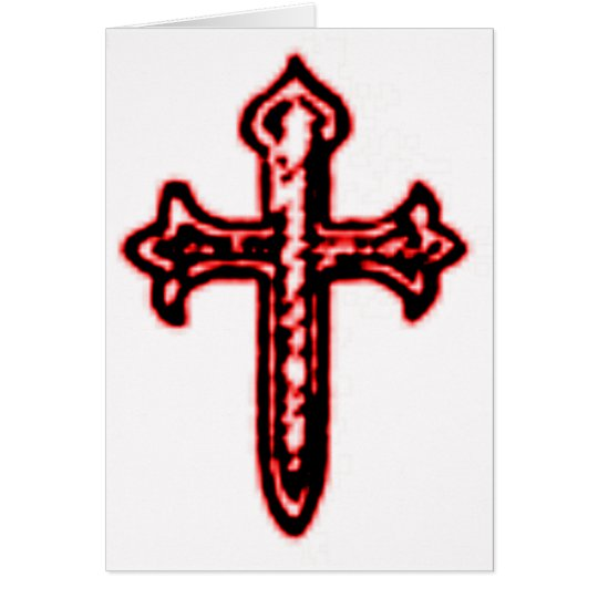 St James Cross in Red Tint Card