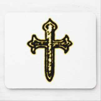 St James Cross in Sepia tone Mouse Pad