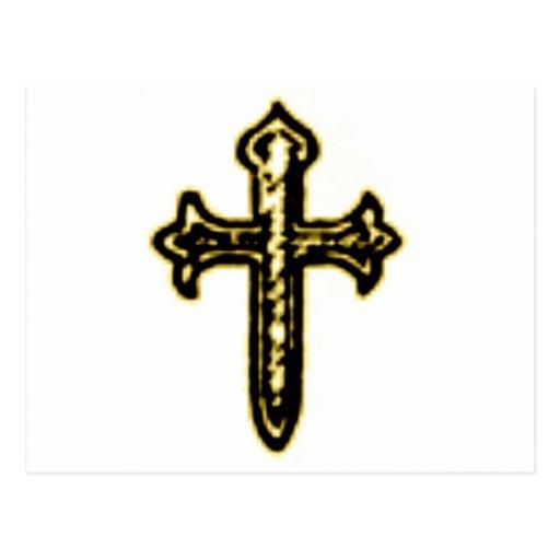 St James Cross in Sepia tone Postcard