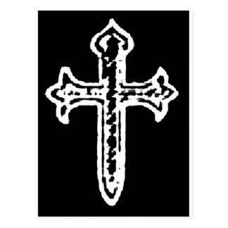St James Cross inverted Postcard