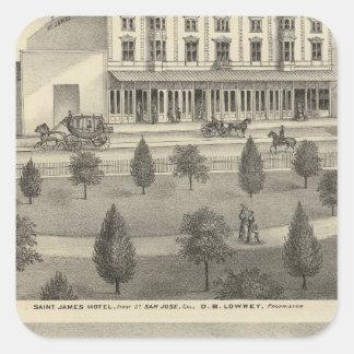St James Hotel, residence Square Sticker