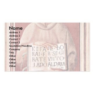 St. James Of Todi By Uccello Paolo (Best Quality) Business Card Template