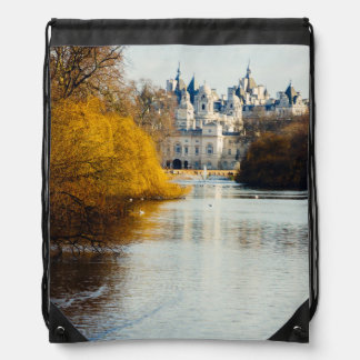 St James' Park, London, UK Photograph Drawstring Backpacks