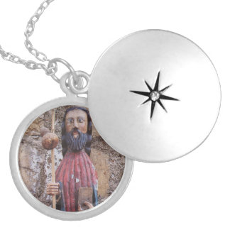 St James Pilgrim Round Locket Necklace