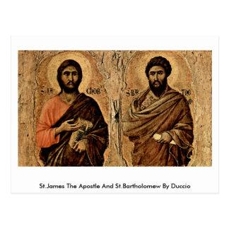 St.James The Apostle And St.Bartholomew By Duccio Postcard