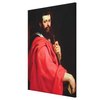 St. James the Apostle, c.1612-13 (oil on panel) Canvas Print