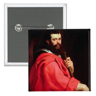 St. James the Apostle, c.1612-13 (oil on panel) Pinback Button