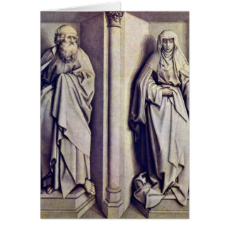 St.James The Elder And St.Clare By Robert Campin Greeting Cards
