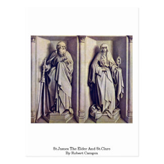 St.James The Elder And St.Clare By Robert Campin Postcard