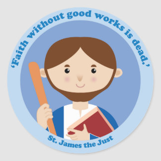 St. James the Just Classic Round Sticker