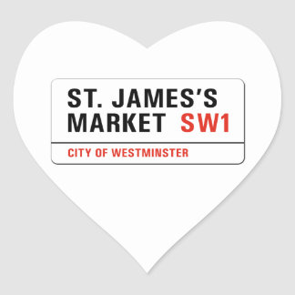 St. James's Market, London Street Sign Stickers