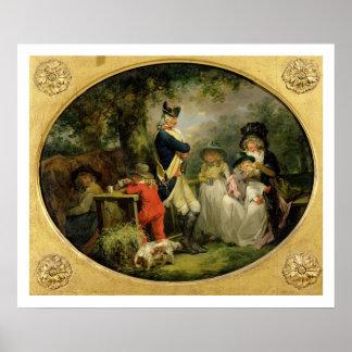 St. James's Park (oil on canvas) Poster