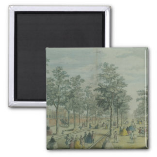 St. James's Park taken near the Stable Yard, 1750 2 Inch Square Magnet
