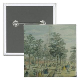 St. James's Park taken near the Stable Yard, 1750 Pinback Button