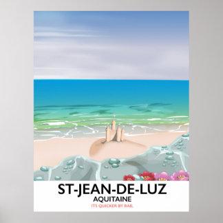 St-Jean-de-Luz, Aquitaine Travel poster