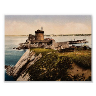 St. Jean de Luz, Fort Socoa, Pyrenees, France clas Poster
