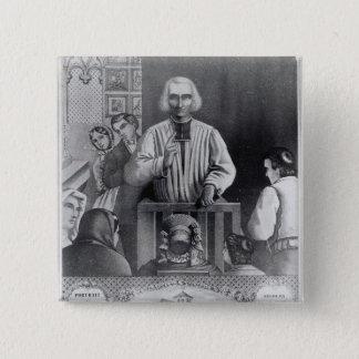 St. Jean-Marie Vianney  preaching, 19th century Pinback Button