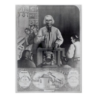 St. Jean-Marie Vianney  preaching, 19th century Poster