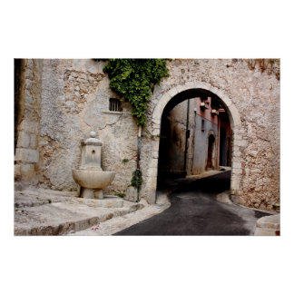 St. Jeannet Archway Print