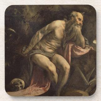 St Jerome, 1560s tempranos (aceite en lona) Posavasos