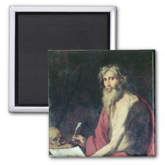 St. Jerome 2 2 Inch Square Magnet