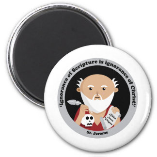 St. Jerome 2 Inch Round Magnet