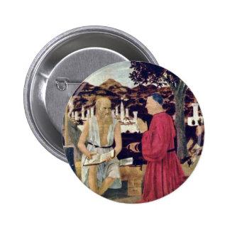 St. Jerome, And A Founder By Piero Della Francesca Pinback Button