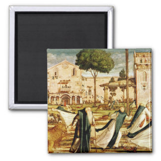 St. Jerome and Lion in the Monastery, 1501-09 2 Inch Square Magnet