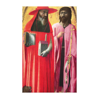 St. Jerome and St. John the Baptist, c.1428-29 Canvas Print
