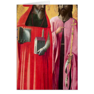 St. Jerome and St. John the Baptist, c.1428-29 Card
