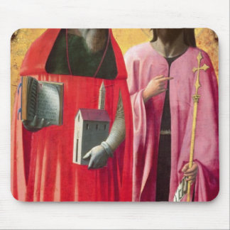 St. Jerome and St. John the Baptist, c.1428-29 Mouse Pad