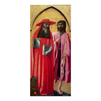 St. Jerome and St. John the Baptist, c.1428-29 Poster