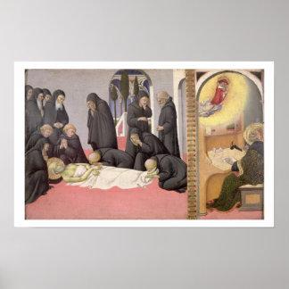 St. Jerome appearing to St. Cyril of Jerusalem, 14 Poster