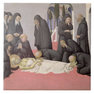St. Jerome appearing to St. Cyril of Jerusalem, 14 Tile