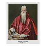 St. Jerome As Cardinal By El Greco Posters