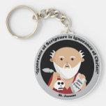 St. Jerome Basic Round Button Keychain