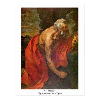 St. Jerome By Anthony Van Dyck Postcard