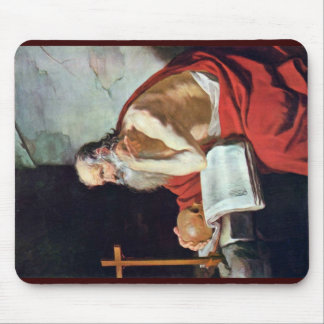 St. Jerome By Blanchard Jacques (Best Quality) Mouse Pad