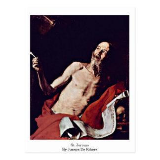 St. Jerome By Jusepe De Ribera Postcard