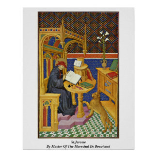 St.Jerome By Master Of The Marechal De Boucicaut Poster