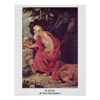 St. Jerome By Peter Paul Rubens Poster
