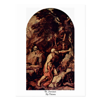 St Jerome By Titian Post Cards