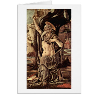St. Jerome By Tura Cosimo Card