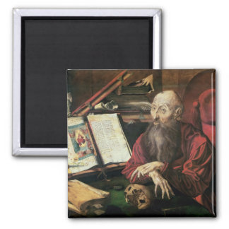 St. Jerome, c.1540-50 2 Inch Square Magnet