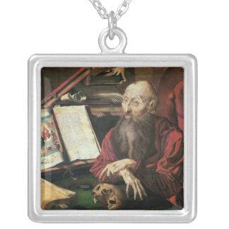St. Jerome, c.1540-50 Square Pendant Necklace
