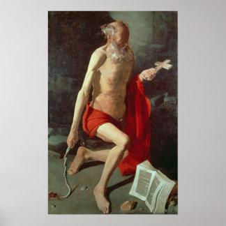 St Jerome c 1620 Print