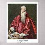 St Jerome como cardenal de El Greco Poster