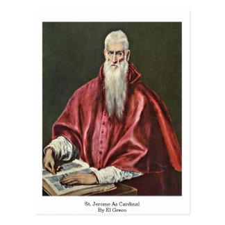 St Jerome como cardenal de El Greco Postales